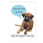 Please Don't Wear My Friends Postcards (Package of