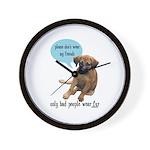 Please Don't Wear My Friends Wall Clock
