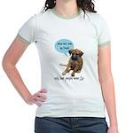 Please Don't Wear My Friends Jr. Ringer T-Shirt