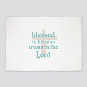 BLESSED IS HE 5'x7'Area Rug