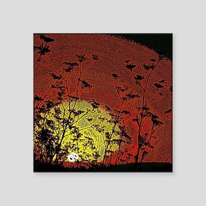 "Australian Sun Square Sticker 3"" x 3"""