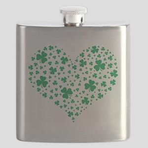 Shamrock Hearts Flask