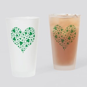 Shamrock Hearts Drinking Glass