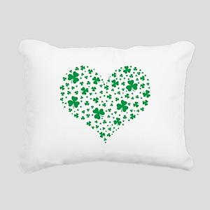 Shamrock Hearts Rectangular Canvas Pillow
