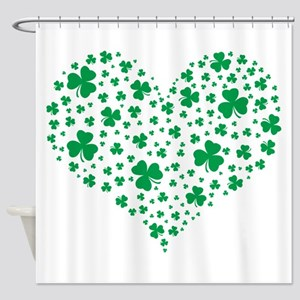 Shamrock Hearts Shower Curtain