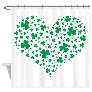Shamrock Heart Shower Curtains