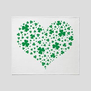Shamrock Hearts Throw Blanket