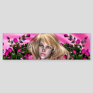 PINK ROSE GARDEN Bumper Sticker