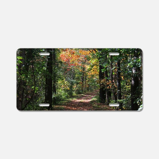 Forest trail Aluminum License Plate