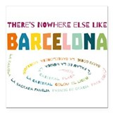 Barcelona Square Car Magnets