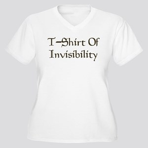 T-Shirt Of Invisibility Women's Plus Size V-Neck T