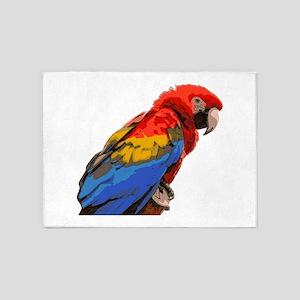 Scarlet macaw 5'x7'Area Rug