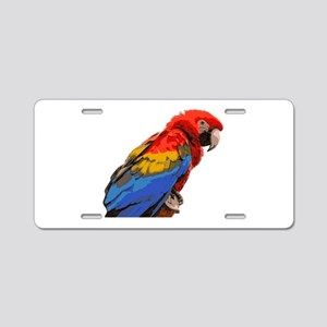 Scarlet macaw Aluminum License Plate
