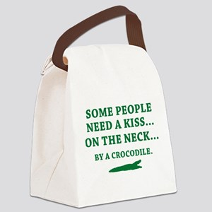 Some People Need A Kiss Canvas Lunch Bag