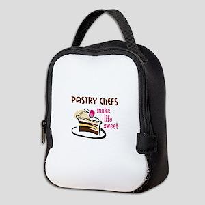 PASTRY CHEFS MAKE LIFE SWEET Neoprene Lunch Bag