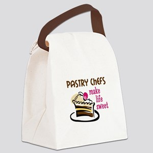 PASTRY CHEFS MAKE LIFE SWEET Canvas Lunch Bag