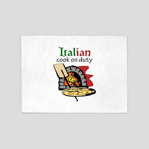 ITALIAN COOK ON DUTY 5'x7'Area Rug