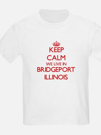 Keep calm we live in Bridgeport Illinois T-Shirt
