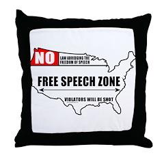 Free Speech Zone Throw Pillow