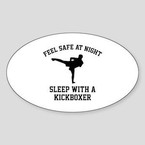 Sleep With A Kickboxer Sticker (Oval)
