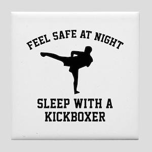 Sleep With A Kickboxer Tile Coaster