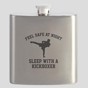 Sleep With A Kickboxer Flask