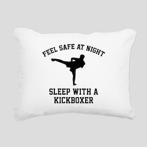 Sleep With A Kickboxer Rectangular Canvas Pillow