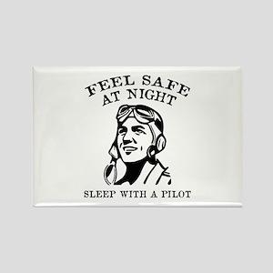 Sleep With A Pilot Rectangle Magnet