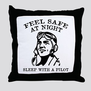 Sleep With A Pilot Throw Pillow