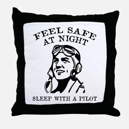 Sleep With A Pilot Throw Pillow