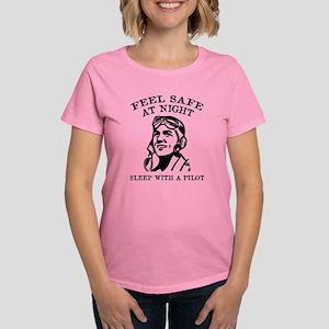 Sleep With A Pilot Women's Dark T-Shirt