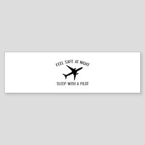 Sleep With A Pilot Sticker (Bumper)