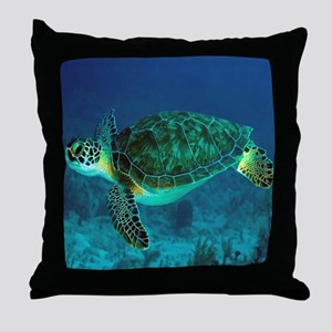 Ocean Turtle Throw Pillow