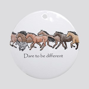 dare to be different Ornament (Round)