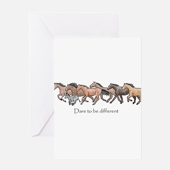 dare to be different Greeting Cards