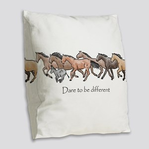 dare to be different Burlap Throw Pillow