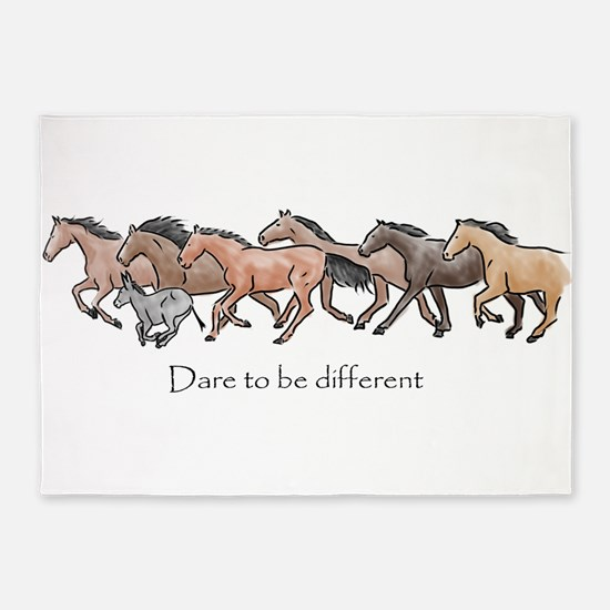 dare to be different 5'x7'Area Rug