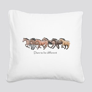 dare to be different Square Canvas Pillow