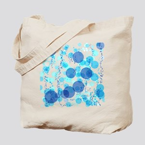 Bubbles Blue Tote Bag