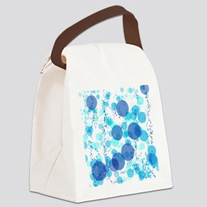 Bubbles Blue Canvas Lunch Bag