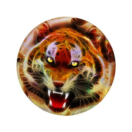 "Cosmic Fire Tiger Roar 3.5"" Button (100 pack)"