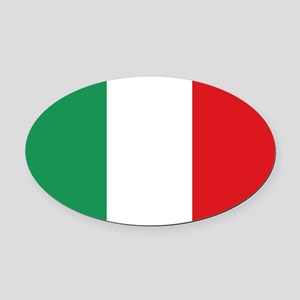 Flag of Italy Oval Car Magnet