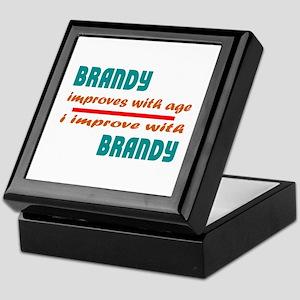 Brandy Improves With Age Keepsake Box