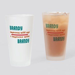 Brandy Improves With Age Drinking Glass