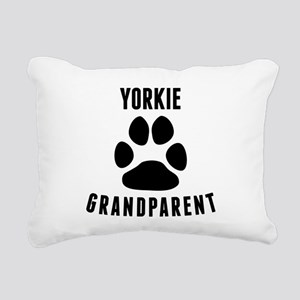Yorkie Grandparent Rectangular Canvas Pillow