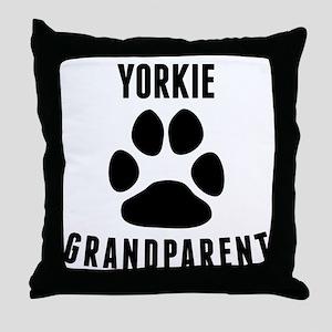 Yorkie Grandparent Throw Pillow