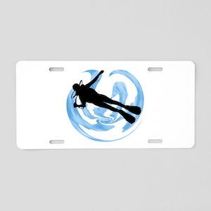 SCUBA MADE Aluminum License Plate