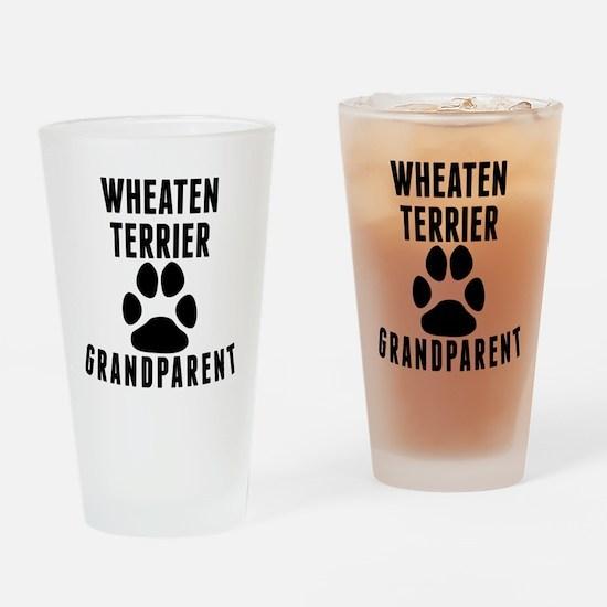 Wheaten Terrier Grandparent Drinking Glass