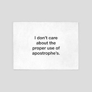 Proper Use Of Apostrophe's 5'x7'Area Rug