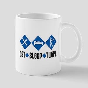 Eat Sleep Twirl (Blue) Mug